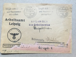 GERMANY WW2 Front 1942 - Arbeitsamt Leipzig To Den Heren Leiber Des Arbeitsamtes Sangerhausen - Briefe U. Dokumente