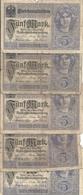 ALLEMAGNE 5 MARK 1917 VG+ P 56 ( 5 Billets ) - [ 2] 1871-1918 : Impero Tedesco