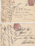 """9797-N°. 2 CARTOLINE ILLUSTRATE -""""POSTA MILITARE-49"""" - 14-12-1918 - 1900-44 Victor Emmanuel III"""