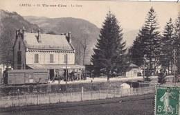15. VIC SUR CERE..CPA. LA GARE. ANNEE 1913 + TEXTE - Autres Communes