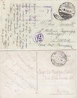 "9798-N°. 2 CARTOLINE ILLUSTRATE -""POSTA MILITARE-37° DIVISIONE"" - 1916 - 1900-44 Victor Emmanuel III"