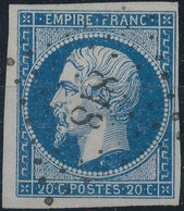 FRANCE - 1854, Yt 14, 20c, Oblitére - 1853-1860 Napoleon III