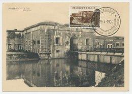 Maximum Card Belgium 1954 Fort Breendonk - Political Prisoners - Seconda Guerra Mondiale