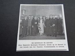 """Origineel Knipsel ( 3812 ) Uit Tijdschrift """" Ons Volk """" 1930 :   Leuven  Louvain - Vieux Papiers"""