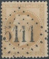 FRANCE - 1862, Yt 21, 10c, Oblitére - 1863-1870 Napoléon III Lauré