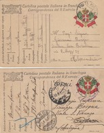 "9800-N°. 2 FRANCHIGIE 1° GUERRA-""POSTA MILITARE-63"" - 1917 - Marcophilia"