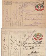 "9801-N°. 4 FRANCHIGIE 1° GUERRA-""POSTA MILITARE-16"" - 1917-18 - 1900-44 Victor Emmanuel III"