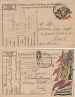 "9802-N°. 2 FRANCHIGIE 1° GUERRA-""POSTA MILITARE-17"" - 1917-18 - Marcophilia"
