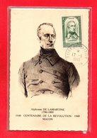 CARTE MAXIMUM - TIMBRE 1948 - LAMARTINE - 1940-49
