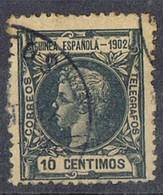Sello 10 Cts Azul GUINEA Española 1902, Num 2 º - Guinea Spagnola