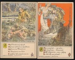 2 KAARTEN ALFONS CLAERHOUDT - Guerra 1914-18