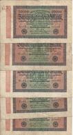 ALLEMAGNE 20000 MARK 1923 VF P 85 ( 5 Billets ) - [ 3] 1918-1933 : Weimar Republic