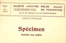 Carte Publicitaire SA De Phototypie  Photo-Belge Etterbeek  (prix Fixe) - Belgien