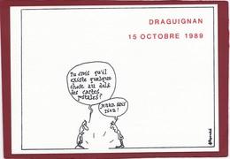ILLUSTRATEUR FILIPANDRÉ   CARTE PIRATE DU SALON DE DRAGUIGNAN  1989 - Filipandre