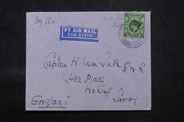 HONG KONG - Enveloppe Pour Le Royaume Uni En 1937 Par Avion, Affranchissement Plaisant - L 59172 - Hong Kong (...-1997)