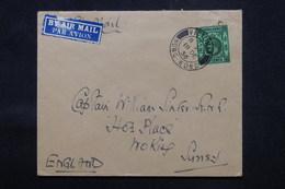 HONG KONG - Enveloppe Pour Le Royaume Uni En 1936 Par Avion, Affranchissement Plaisant - L 59173 - Hong Kong (...-1997)