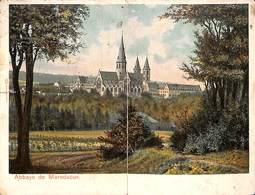 Carte Double Abbaye De Maredsous (colorisée Louis Glaser...petite Découpe) (prix Fixe) - Anhée
