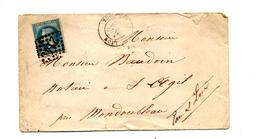 Lettre Cachet Losange  Lyon  Sur Napoleon + - 1849-1876: Periodo Clásico