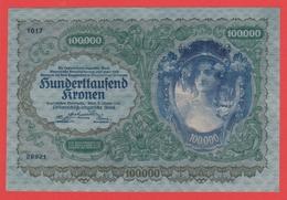BILLET - AUTRICHE - 100.000 Kronen  Du 02 01 1922 - Pick 60  UNC - Autriche