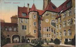 Ansichtskarte Bielefeld Rathaus Rathaushof Farbige Ansicht 1915 - Bielefeld