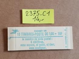 Carnet N° 2375-C1  Neuf ** Vendu à 16% De La Cote   TB - Booklets