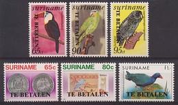 Republiek Suriname Port 1/6 Postfris/MNH Te Betalen, Vogels, Birds, Oiseaux, Coins, Banknotes, Tax 1987 - Surinam