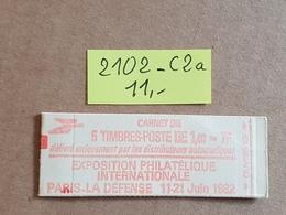 Carnet N° 2102-C2a  Neuf ** Vendu à 16% De La Cote   TB - Booklets