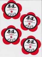 4 Autocollants Judo Code Moral - Artes Marciales