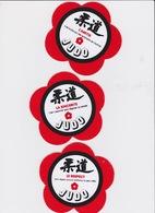 3 Autocollants Judo Code Moral - Arti Martiali