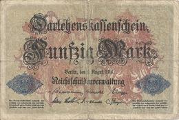 ALLEMAGNE 50 MARK 1914 VG+ P 49 - 50 Mark
