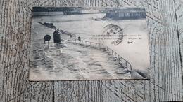 75 Inondations De Paris L'écluse De La Monnaie Submergée Carte Publicitaire Sucrerie De Toury Païl'mel - Inondations De 1910