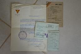 Brevet Diplôme Certificat Armée Secrète AS Vaux Sous Chèvremont Zone 5 Secteur 2 Sans Médaille - Toegangskaarten