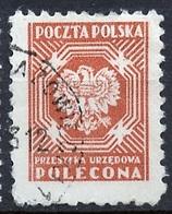 Pologne - Poland - Polen Service 1952 Y&T N°S24 - Michel N°D24 (o) - Sans Valeur Armoirie - Officials
