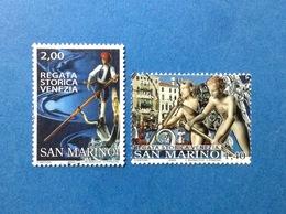 2005 SAN MARINO FRANCOBOLLI USATI STAMPS USED REGATA STORICA VENEZIA - San Marino