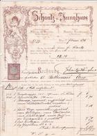 """Fattura Comm. Con Marca D Bollo - Materiale E Apparecchi Farmaceutici """" Schantz U. Sunghans """" , Wien - Autriche"""