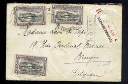 PA 2 X 3  + Stanley 164  ( Paire ) / Lsc Reco. Elisabethville 11 5 31 => Bruges Griffe Avion / Léopoldville 13 5 31 - Belgisch-Kongo