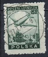 Pologne - Poland - Polen Poste Aérienne 1946 Y&T N°PA14 - Michel N°432 (o) - 25z Avion Survolant Varsovie - Officials