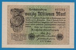 DEUTSCHES REICH 20 Millionen Mark01.09.1923# LE-17 037264 P# 108c - [ 3] 1918-1933 : República De Weimar