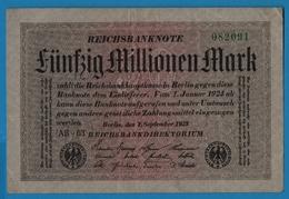 DEUTSCHES REICH 50 Millionen Mark01.09.1923# AB-63 082091 P# 109a - [ 3] 1918-1933 : République De Weimar