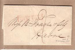 LETTRE DEPART NEW YORK ETATS UNIS A MRS FOACHE ET FILS LE HAVRE PAYS D'OUTREMER PAR LE HAVRE + TAXE - 1828 - Poste Maritime