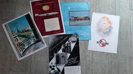 Lot 5 Pages Publicité Aviation Avion Vickers Viscount Super Constellation Shell Stelline Fiat 1900 - Advertenties