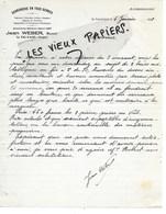 88 - Vosges - VAL-D'AJOL - Facture WEBER - Serrurerie En Tous Genres - 1938 - REF 147B - France