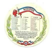 ETIQUETTE De FROMAGE..CAMEMBERT 1791..Calendrier NIVOSE - Cheese