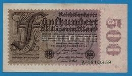 DEUTSCHES REICH 500 Millionen Mark01.09.1923# A.4810359 P# 110a - [ 3] 1918-1933: Weimarrepubliek