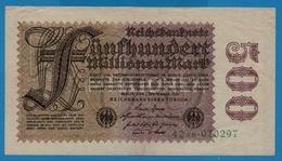 DEUTSCHES REICH 500 Millionen Mark01.09.1923# 42AB.070297  P# 110b - [ 3] 1918-1933: Weimarrepubliek