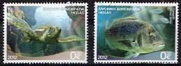 Griechenland 2012,Michel# 2651 + 2653 A O  Riches Of The Greek Seas - Gebraucht
