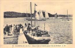 22 - PAIMPOL : Départ De La Vedette Pour L'ILE DE BREHAT ( 380 Habitants ) CPA - Côtes D'Armor - Paimpol