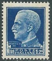 1929-42 REGNO IMPERIALE EFFIGIE 1,25 LIRE MNH ** - RC11-2 - Mint/hinged
