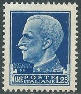 1929-42 REGNO IMPERIALE EFFIGIE 1,25 LIRE MNH ** - RC11-3 - Mint/hinged