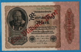 DEUTSCHES REICH 1 Milliarde Mark15.12.1922# 8K.070061  P# 113a - [ 3] 1918-1933 : Repubblica  Di Weimar